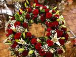 wunderschöner runder Blumenkranz